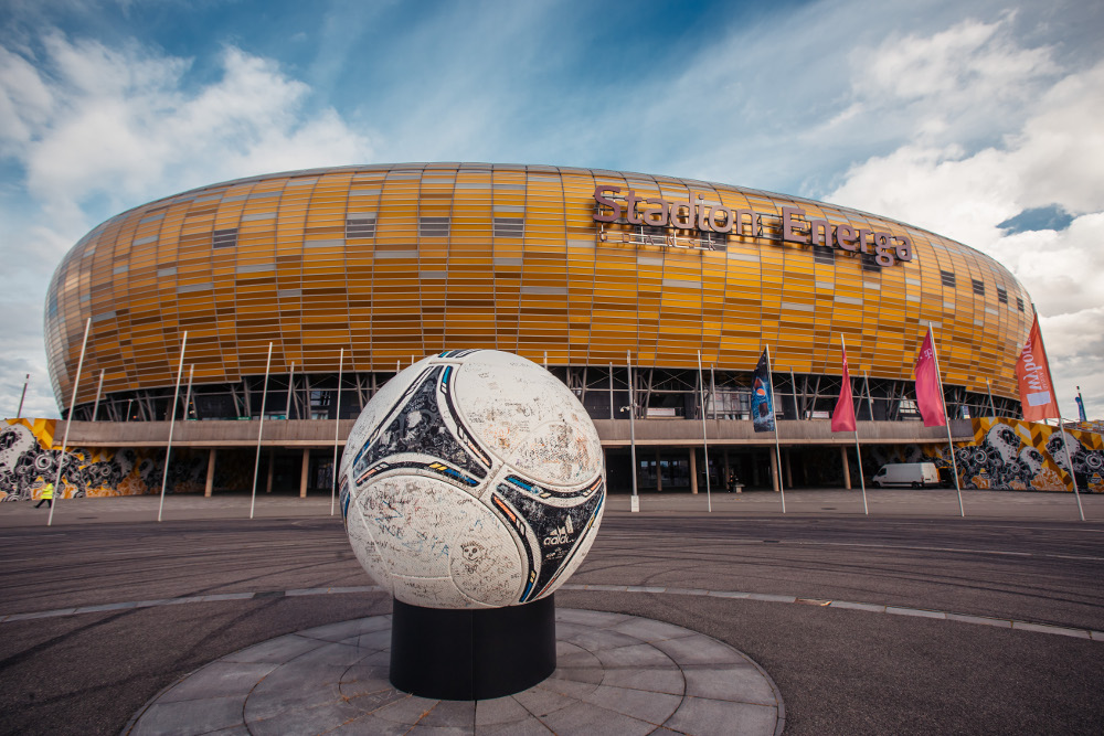 widok na stadion Energa Gdańsk